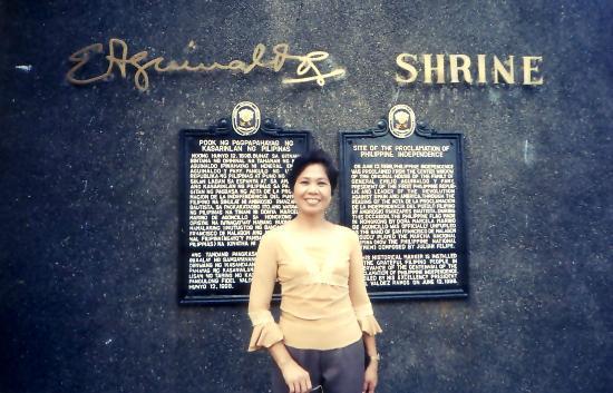 Aguinaldo Shrine: At the marker