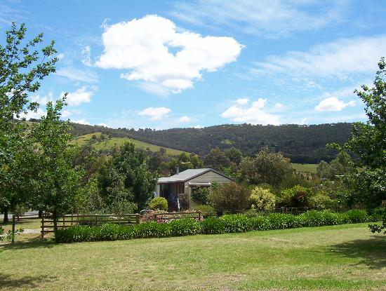 Yarra Glen Bed & Breakfast: Yarra Glen B&B garden views of the Valley