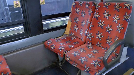 Chicago Trolley & Double Decker Co.: Damaged seats