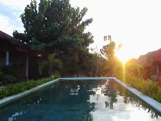 Casa Asia: piscina al tramonto.