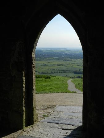 Glastonbury Tor: Der Ausblick aus dem alten Kirchturm ist phantastisch