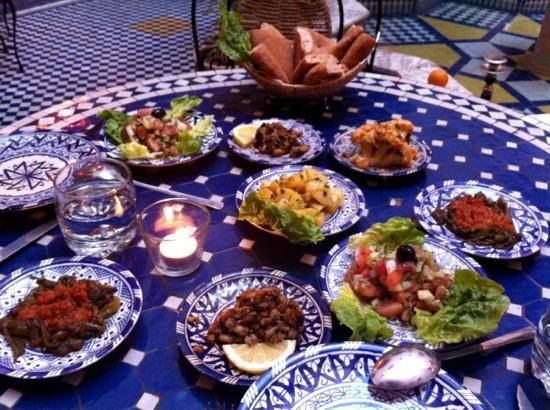 Riad Ahlam: Yummy dinner