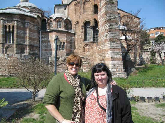 Sophora Travel Day Tours: Laura and me at the Chora Church