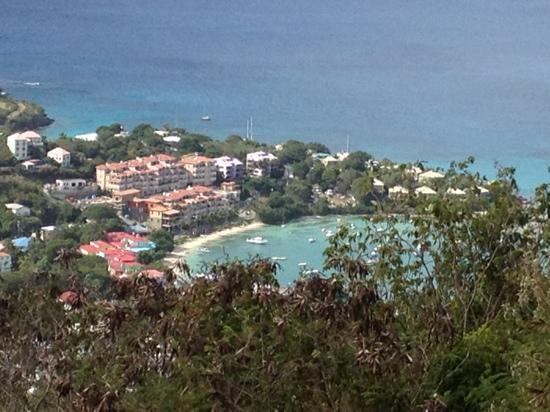 Coconut Coast Villas: View of Cruz Bay from trail within walking distance from Coconut Coast!