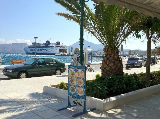 Marianna: Overlooking the Adamas ferry terminal