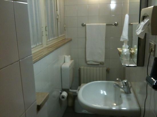 Hotel des Artistes: bagno camera singola