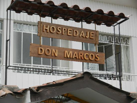Hospedaje Don Marcos: Cartel de entrada