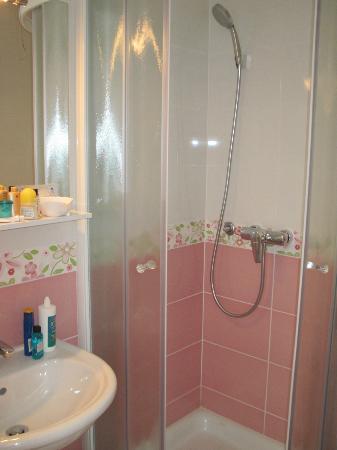 Pension Pletna: Impossibly clean bathroom!