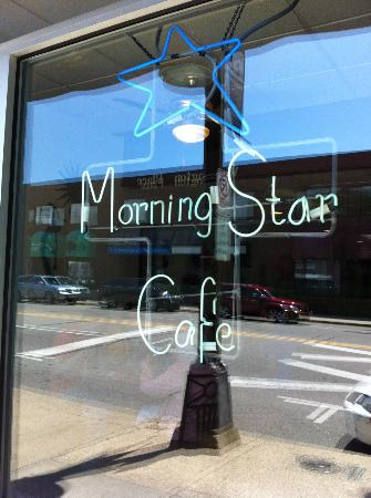 Morning Star Cafe: Front window
