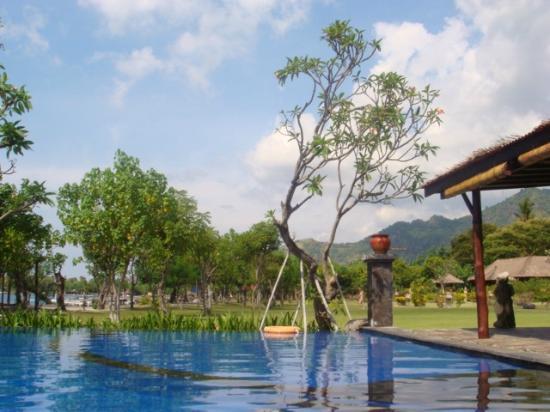 Amertha Bali Villas: Main pool area by the beach