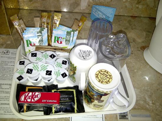 The Rookery Guest House: Welcome tray in Kingfisher room