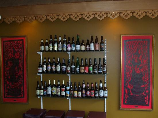 Thai Pagoda: Large collection of beers from around the world