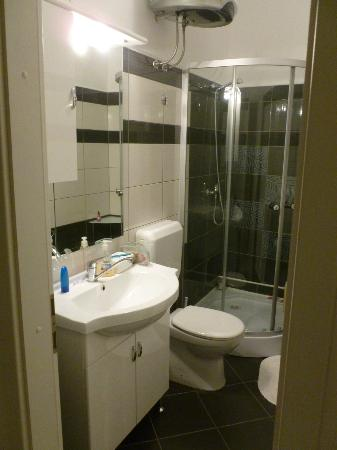 Rooms & Apartments Matkovic: Updated bathroom with a place for everything!