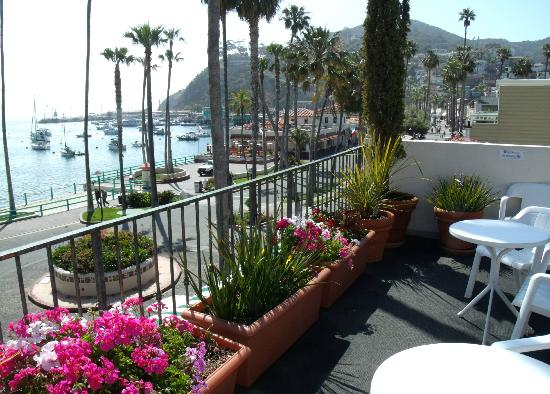 Portofino Hotel : View off rooftop deck