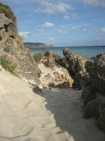 Plage d'Elafonissi : outer beach area