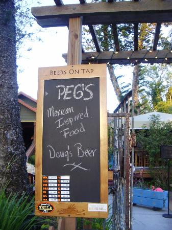 Peg's Cantina: Doug's beer is the best!