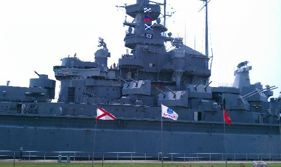 Mobile, AL: Portside view of the USS ALABAMA
