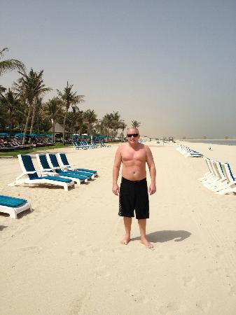 JA Palm Tree Court: Jebel Ali private beach is endless, swimming is great too!