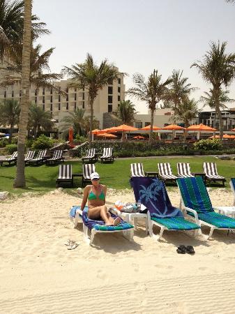 JA Palm Tree Court: Beach Loungers in plentiful supply