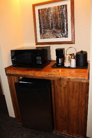 Grand Lodge Waterpark Resort: Microwave and Kitchen amenities