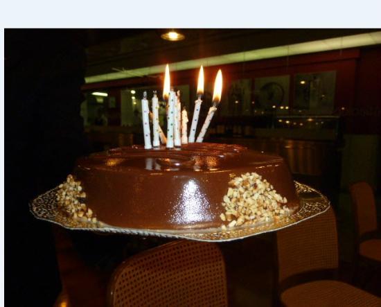 Gelateria Biancaneve Bardolino: Nutella ice cream cake