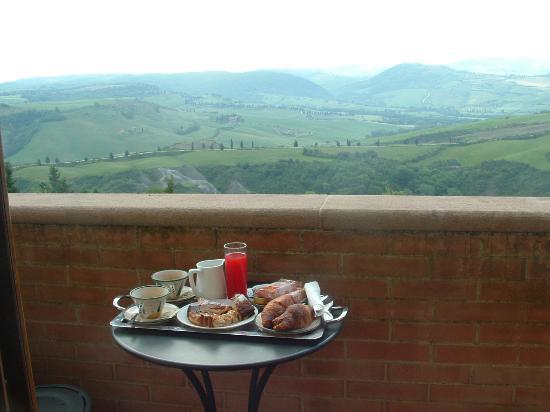 Piccolo Hotel La Valle Pienza: colazione in camera