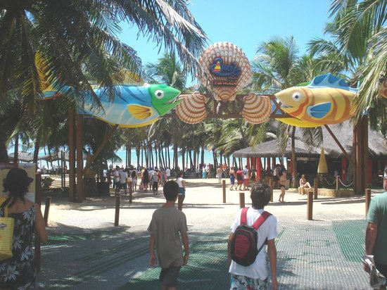 حديقة الشاطئ: Ingreso al Beach Park y a Ponto das Dunas