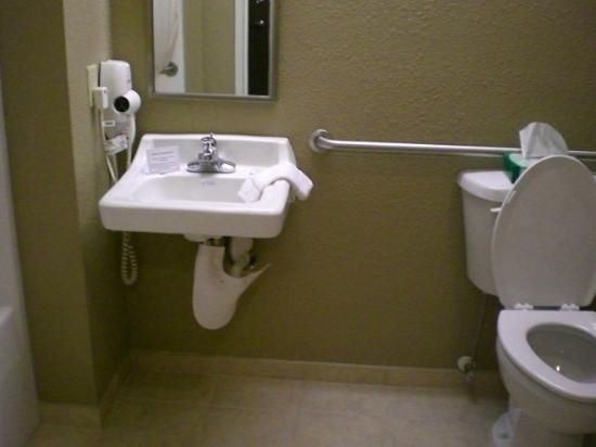Microtel Inn & Suites by Wyndham Manchester : Bathroom Microtel Manchester, TN