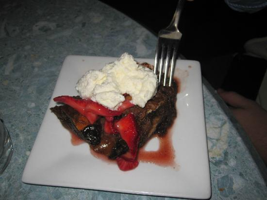 Julian: Perhaps chocolate bread & butter pudding