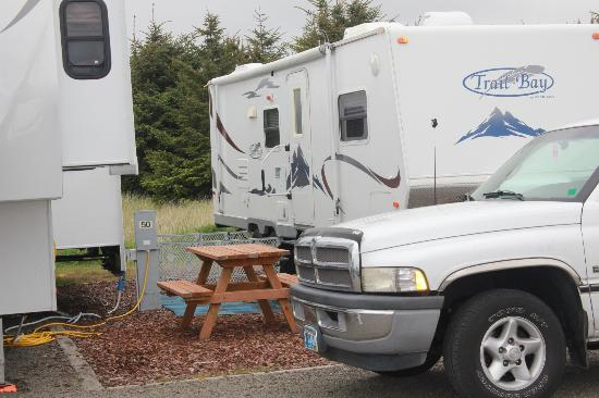 Andersen's RV Park : Very cramped quarters