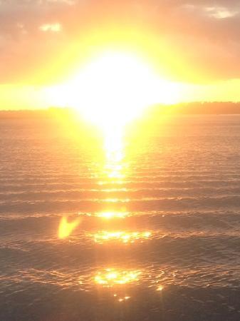 Wrightsville Beach, NC: sunset on the shamrock
