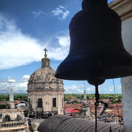Hotel Dario: bell tour of historic church with epic views of Granada, Mombacha Volcano and Lake Nicaragua