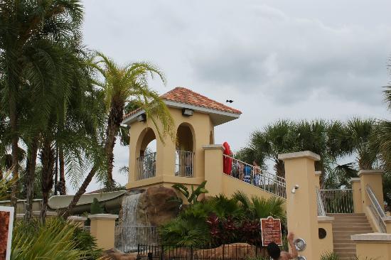 Villas at Regal Palms Resort & Spa : top of the slide