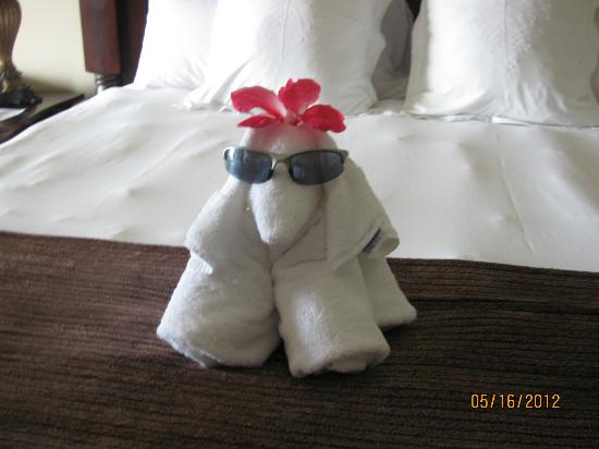 Sandals Ochi Beach Resort: Cute surprise when your room is cleaned