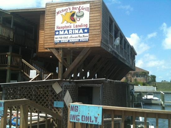 Mickey's Bar and Grill: on the water