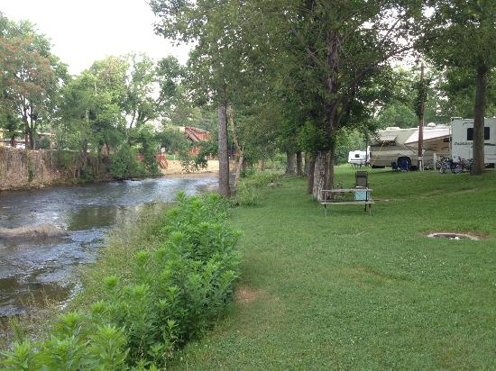 Camp Riverslanding: Our site was right on the river