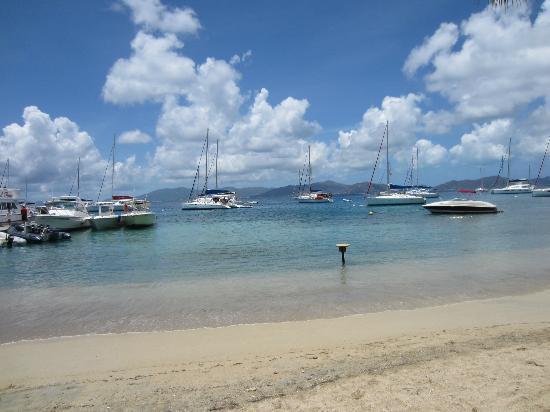 Cooper Island Beach Club Restaurant: View from Copper Island Beach