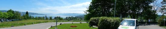 Landgasthof Halbinsel Au : Panorama vom Sitzplatz aus