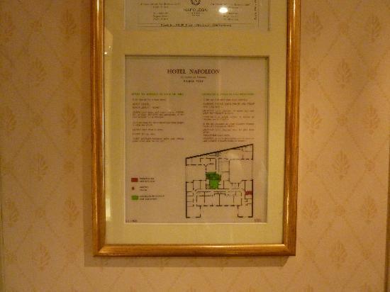 Hotel Napoleon Paris: ホテル 間取り図