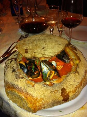 Velletri, Italia: zuppa di pesce