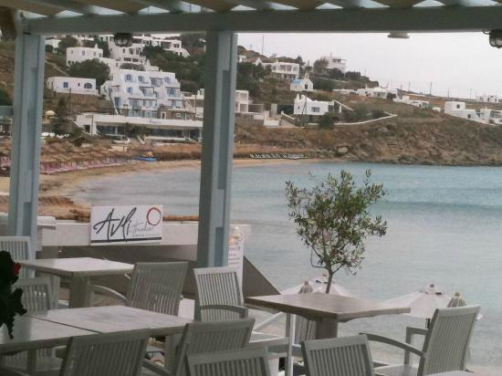Palladium Boutique Hotel: Platis Yialos beach 10 mins walk from Hotel