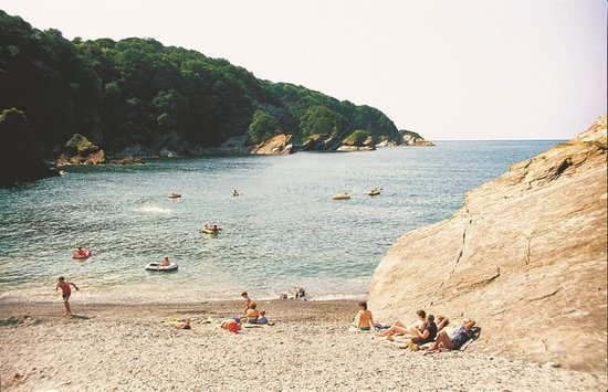 Combe Martin, UK: The park has its own private beach