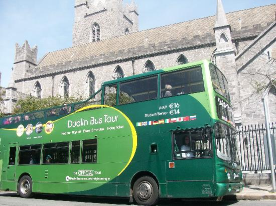 Dublin Bus Tour - Green Bus - Hop on Hop Off: Green Hop on Hop off at St. Patrick's Cathedral