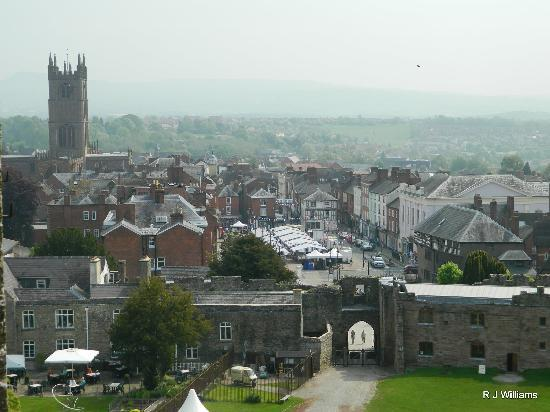 Ludlow Castle: View of Ludlow town from the Castle