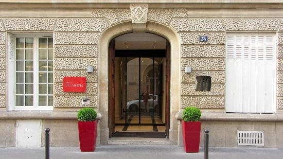 Front door to Villathena
