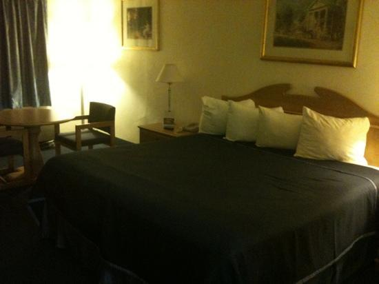 Howard Johnson Express Inn Staunton: bed and table