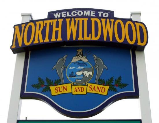 North Wildwood, Nueva Jersey: Welcome Sign