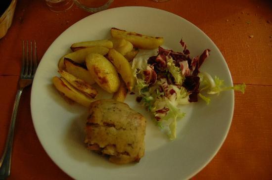 Pomerol : Filetto di maiale in crosta di erbe aromatiche con patate
