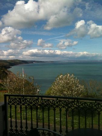 The Downs, Babbacombe: View across the bay looking left from the balcony