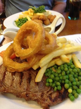 Acle Bridge Inn: my dinner